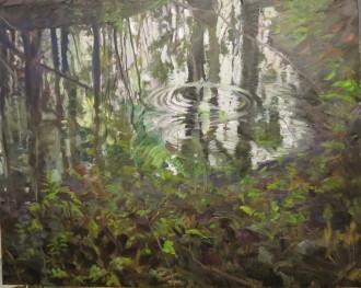 """""""Vernal Pool"""" oil painting by Micki Colbeck"""